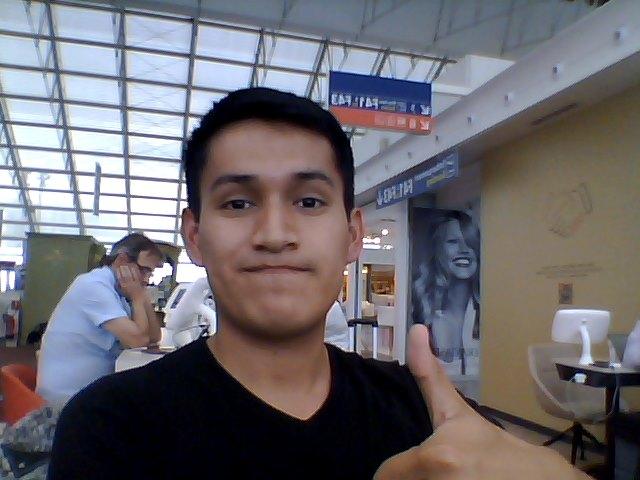 Dans l'aéroport Charles de Gaulle