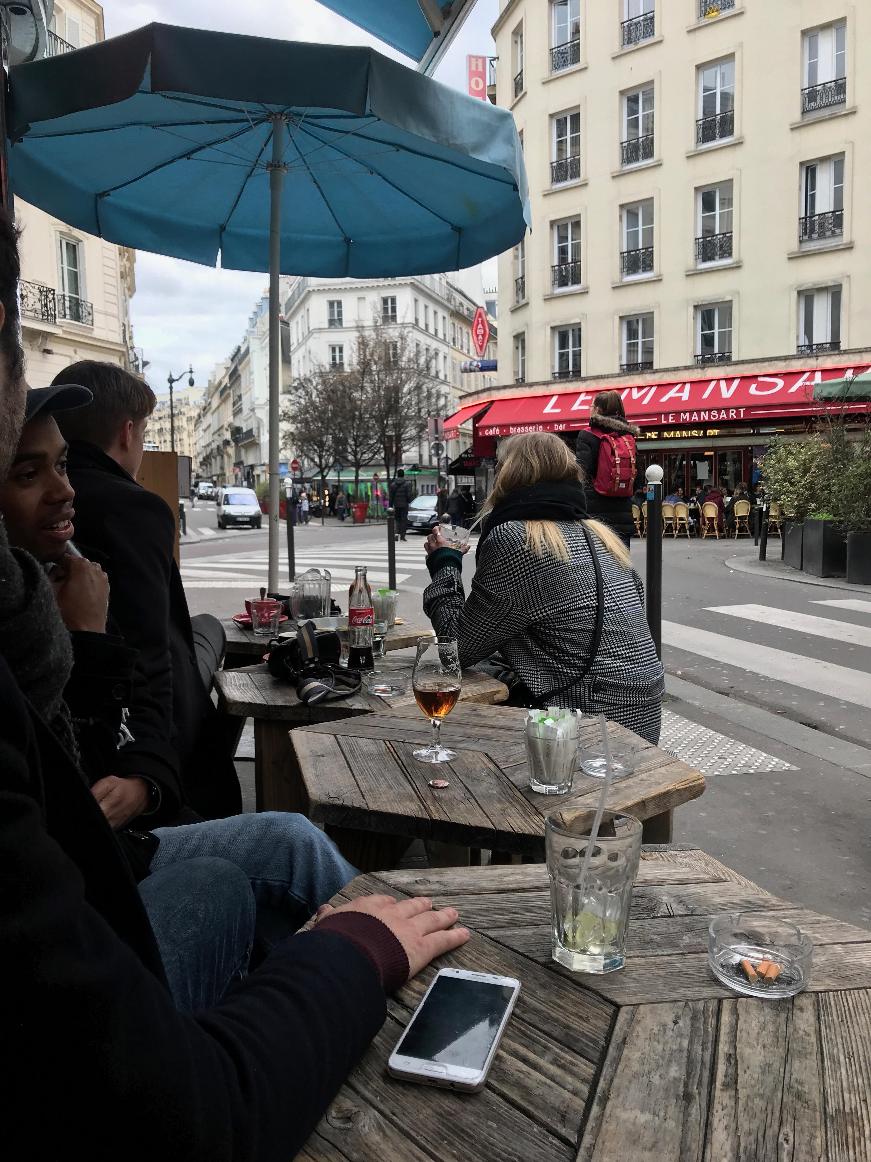 A café near Pigalle