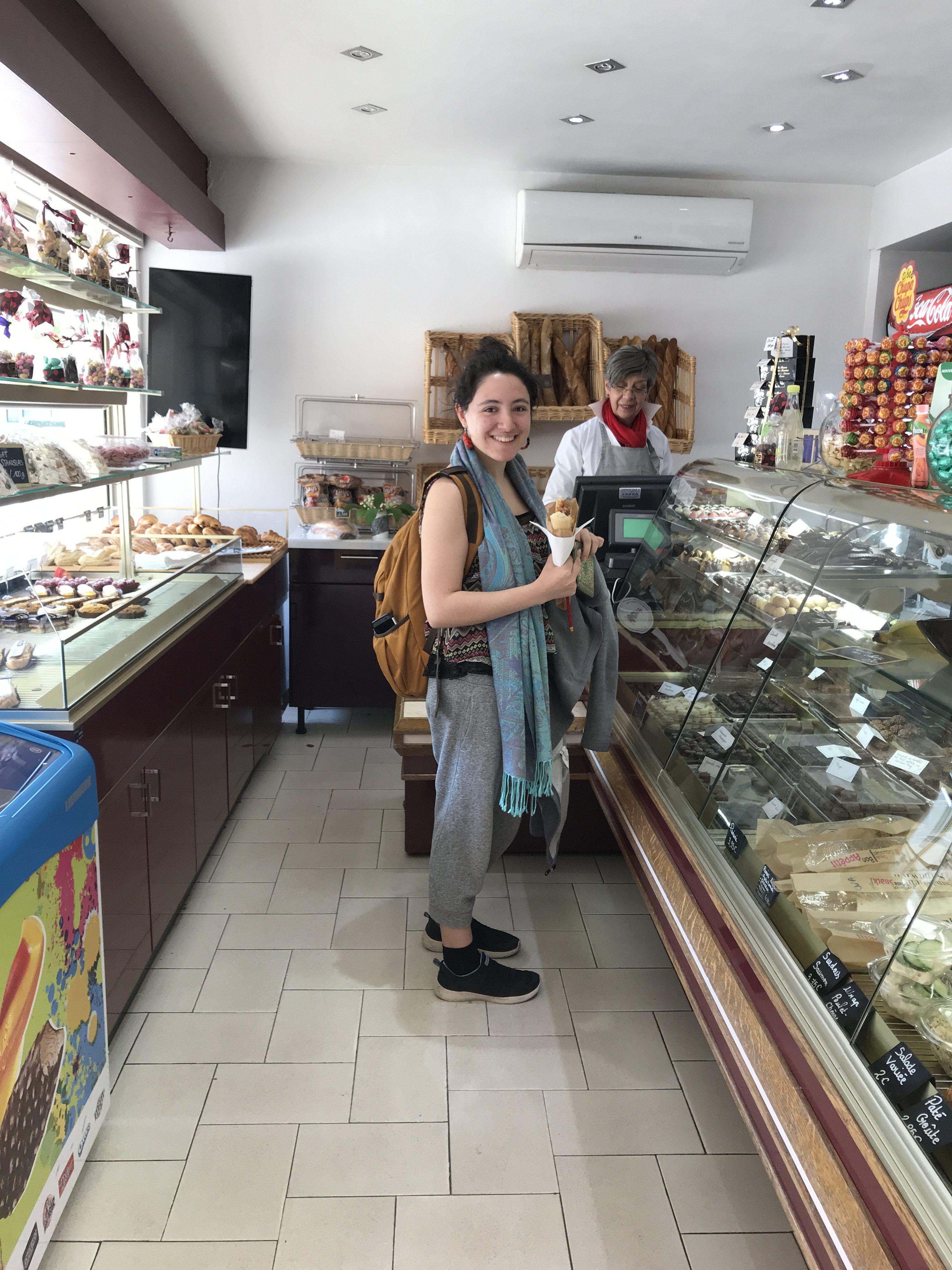 In the boulangerie