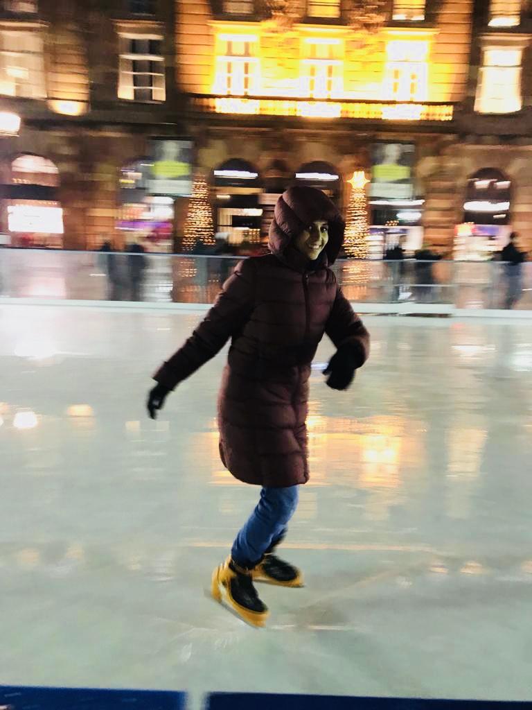 patinoire à la place Kléber à Strasbourg